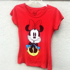 Disney red Minnie Mouse top